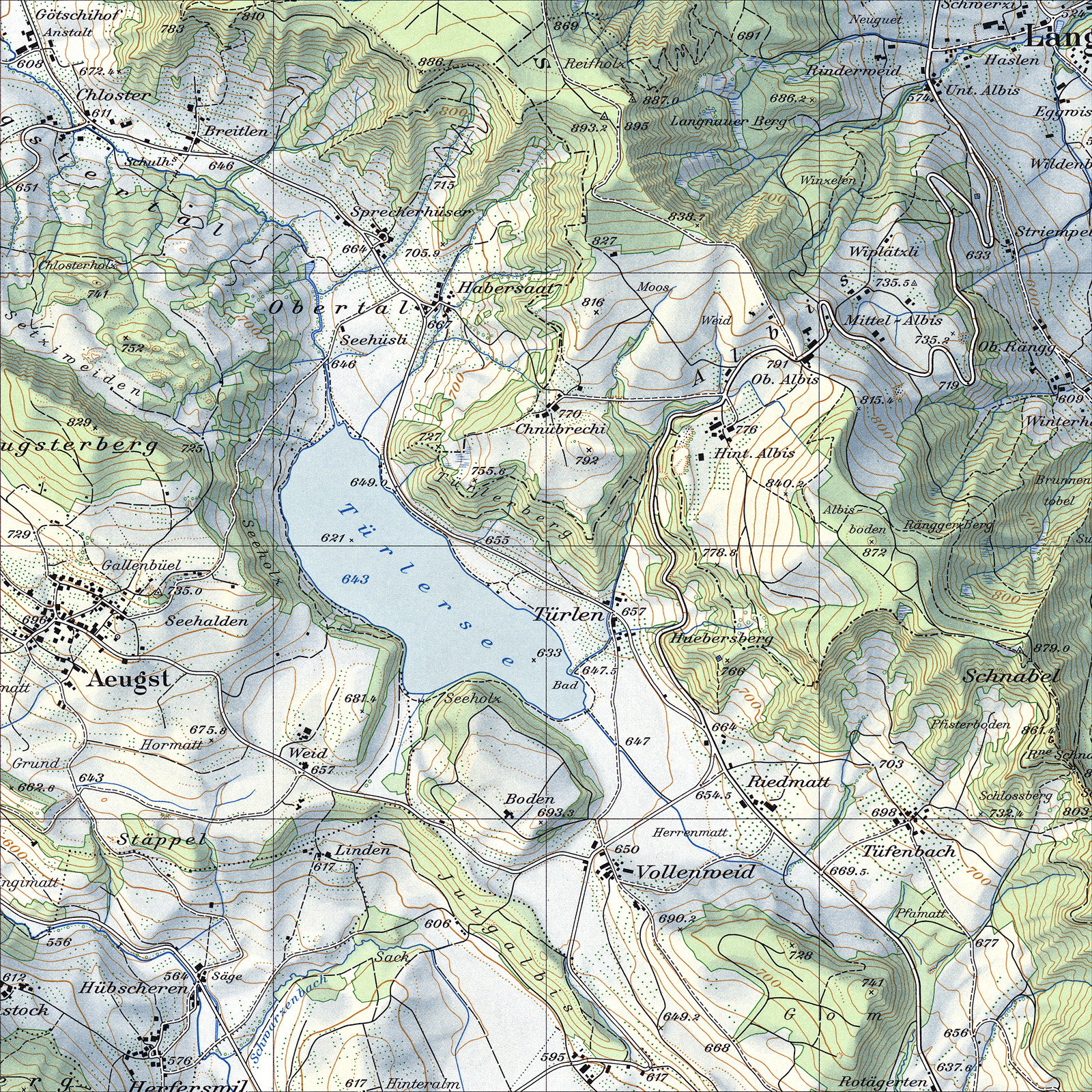 Tufte sparklines Swiss topographic map