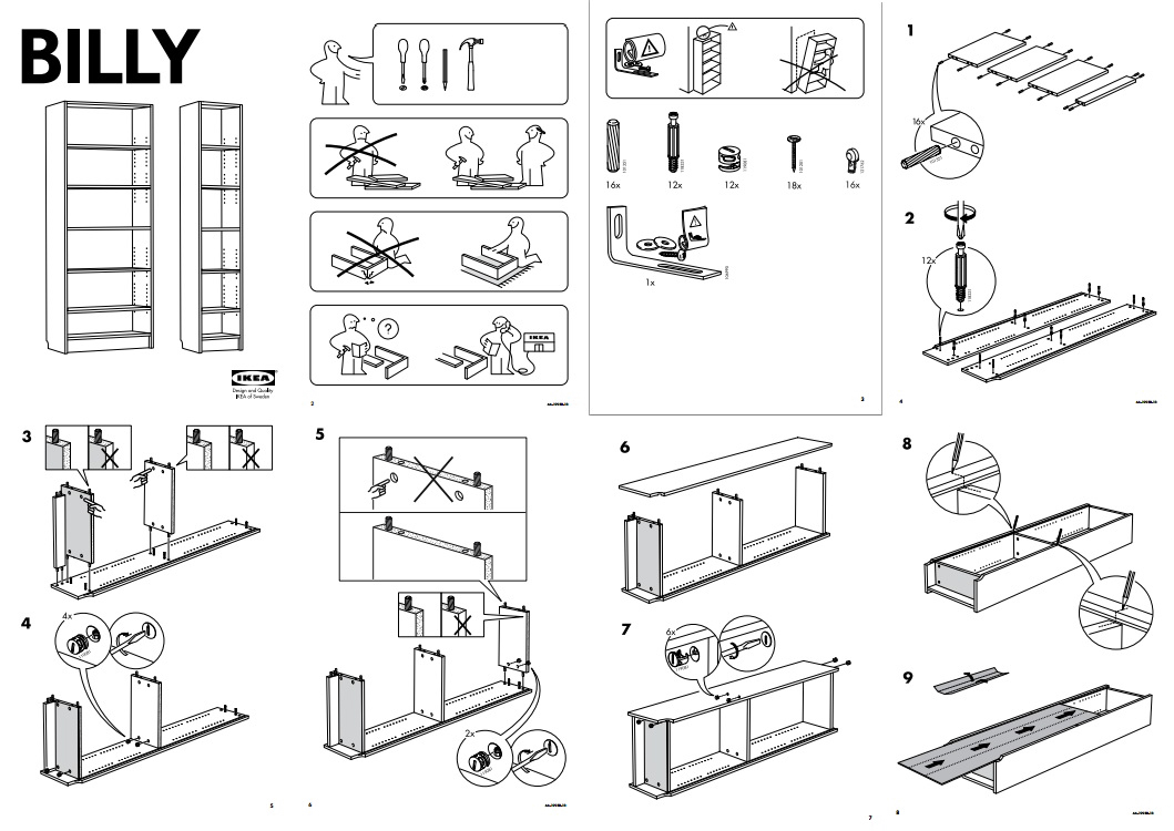 IKEA Billy instructions