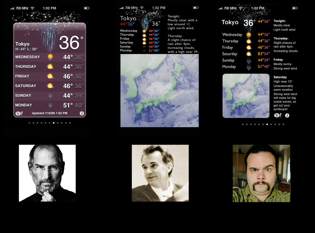 iphone weather interface