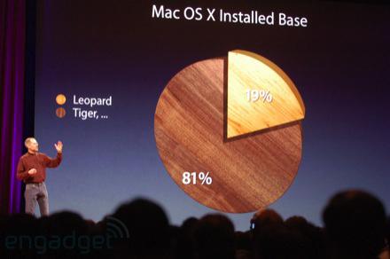 Steve Jobs more chartjunk pie chart