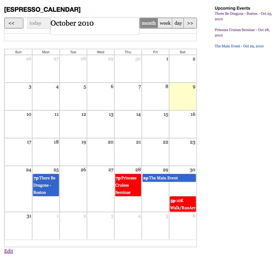 Wordpress Calendar