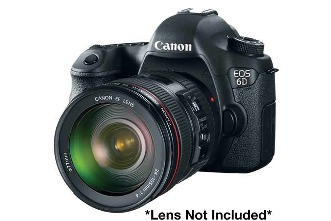 Canon EOS 6D 20.2MP DSLR Camera - Body Only