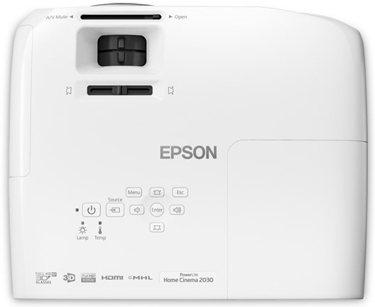 Epson PowerLite Home Cinema 2030 2D/3D 1080p 3LCD Projector