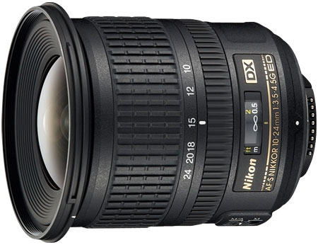 Nikon AF-S DX NIKKOR 10-24mm f/3.5-4.5G ED Camera Lens