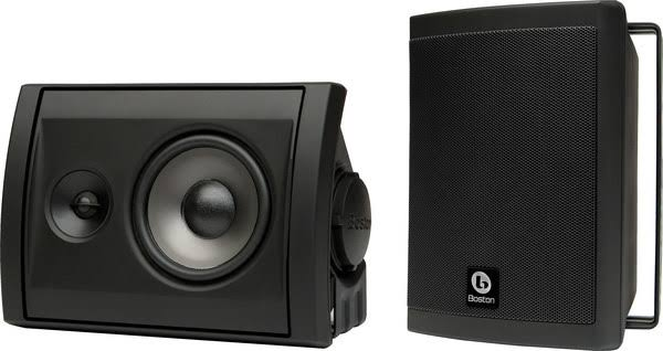 Image for Boston Acoustics Voyager 40 Black Outdoor Speakers (Pair)