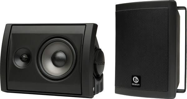 Boston Acoustics Voyager 40 Black Outdoor Speakers (Pair)