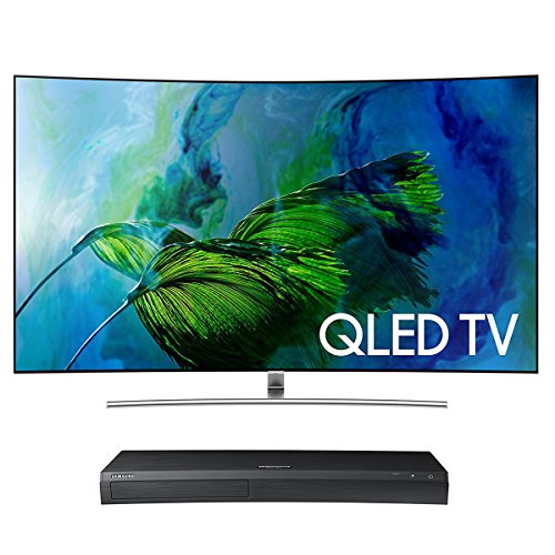"Samsung QN75Q8C 75"" Curved 4K UHD HDR QLED Smart TV with Samsung UBD-M9500 4K Ultra HD Blu-ray Player"