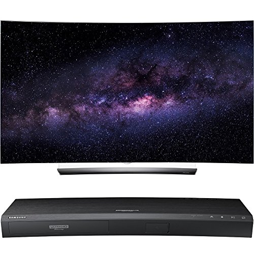 "LG OLED65C6P 65"" Curved 4K OLED 3D Smart TV w/ UBD-K8500 3D 4K UHD Blu-Ray Player"