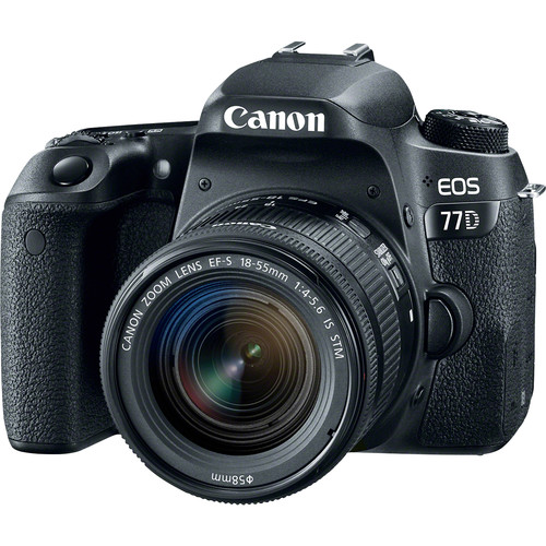 Image for Canon EOS 77D 24.2MP DSLR Camera with 18-55 Lens Kit