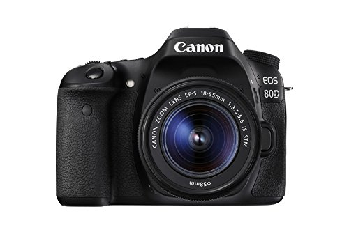 Image for Canon EOS 80D 24.2MP DSLR with 18-55mm Lens