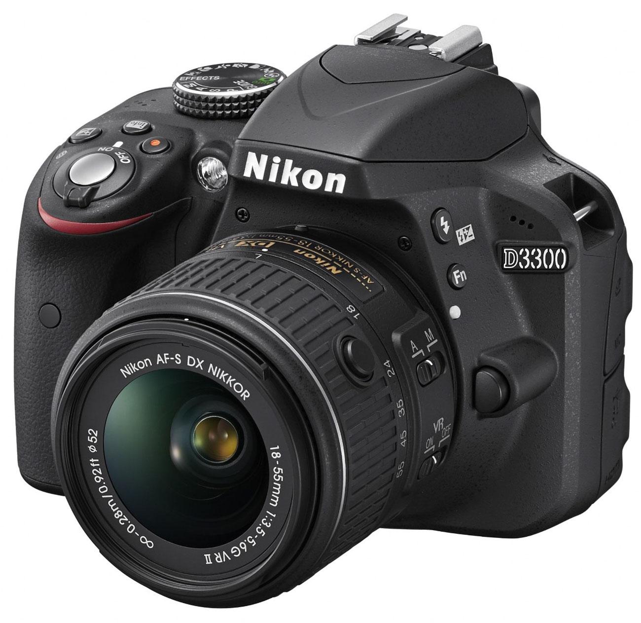 Image for Nikon D3300 24.2MP DSLR Camera With 18-55mm VR Lens Kit