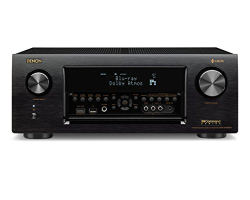 Denon AVRX4300H 9.2 Channel Full 4K Ultra HD AV Receiver with Built-in HEOS wireless technology feat