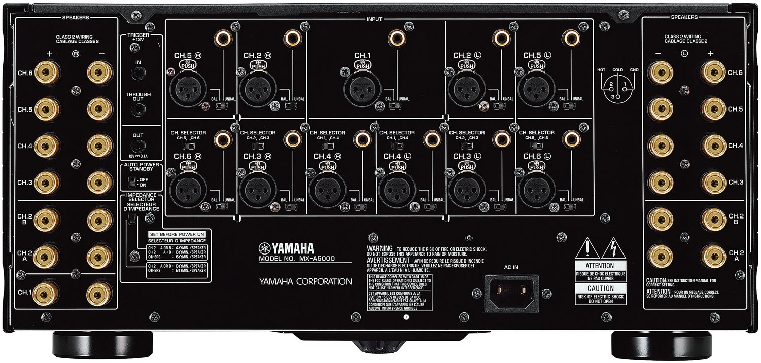 Image for Yamaha MX-A5000BL AVENTAGE 11-Channel Power Amplifier