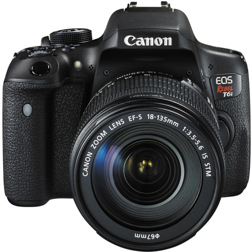 Image for Canon EOS Rebel T6i 24.2 MP DSLR Camera with 18-135mm Lens