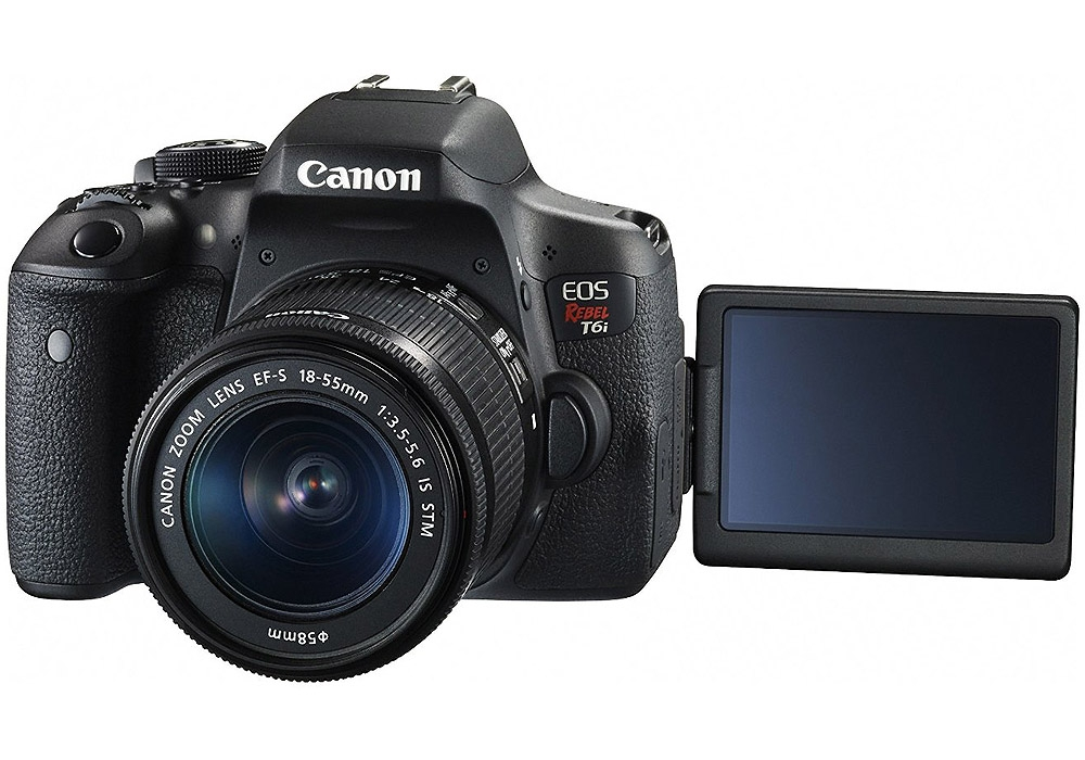 Canon EOS Rebel T6i 24.2MP DSLR Camera with 18-55mm Lens
