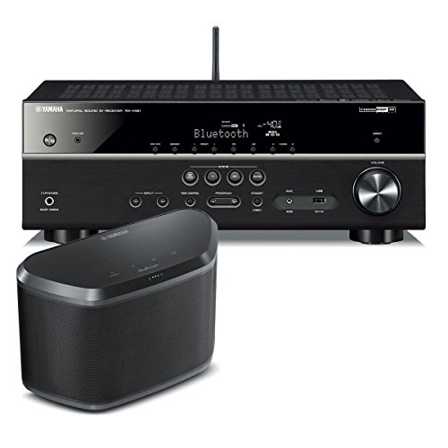 yamaha rx v481 5 1 channel av receiver with wx 030 musiccast wireless speaker black. Black Bedroom Furniture Sets. Home Design Ideas