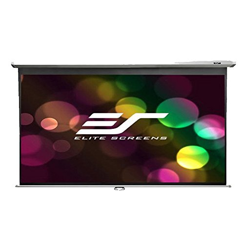 Elite Screens Manual, 135-inch 16:9, Pull Down Projection Manual Projector Screen with Auto Lock