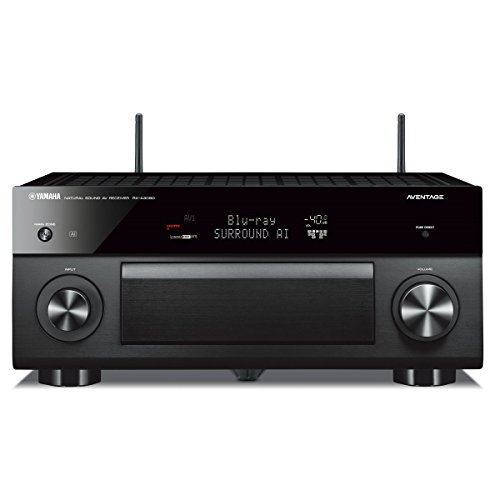 Yamaha AVENTAGE RX-A3080 9.2-ch (11.2-ch. Processing) 4K Ultra HD AV Receiver with HDR, Dolby Vision, Dolby Atmos, Wi-Fi, Phono, YPAO and MusicCast. Works with Alexa.