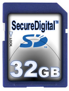 Image for 32GB High Capacity SD Memory Card