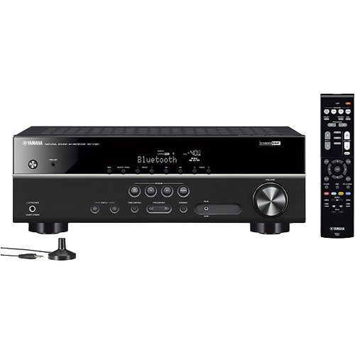 yamaha rx v381 5 1 channel a v receiver black. Black Bedroom Furniture Sets. Home Design Ideas