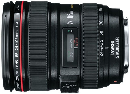 Canon EF 24-105MM F4L IS USM Standard Lens (Black)