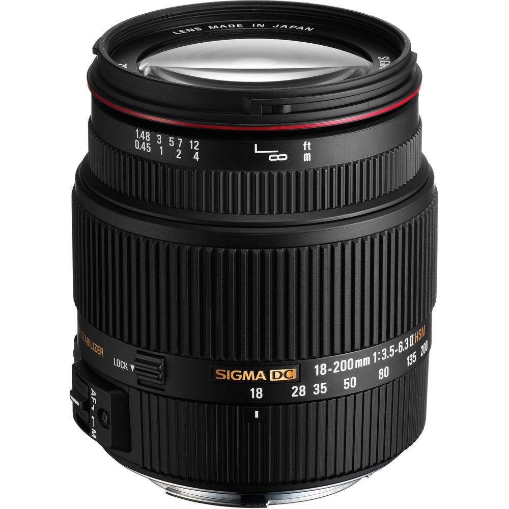 Image for Sigma 18-200mm f/3.5-6.3 II DC OS HSM Lens for Canon Digital EOS