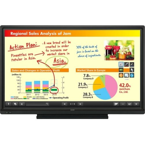 "Sharp PN-L703B - 70"" LED 1080p Interactive Display w/ Touchscreen"