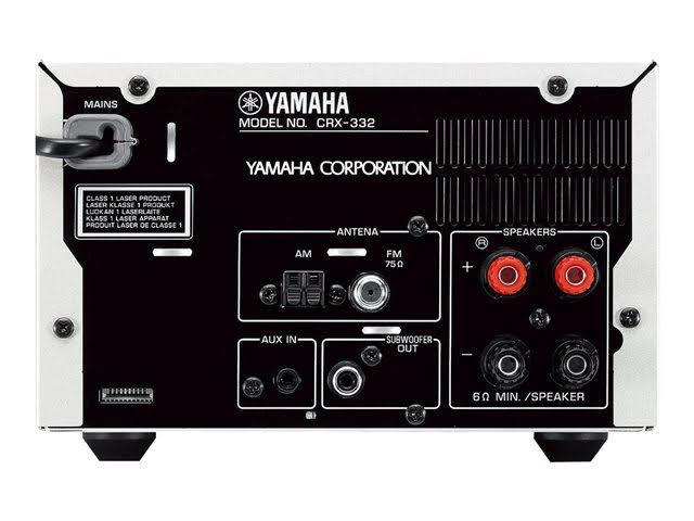 Image for Yamaha CRX-332 CD receiver with iPhone / iPod cradle - Black
