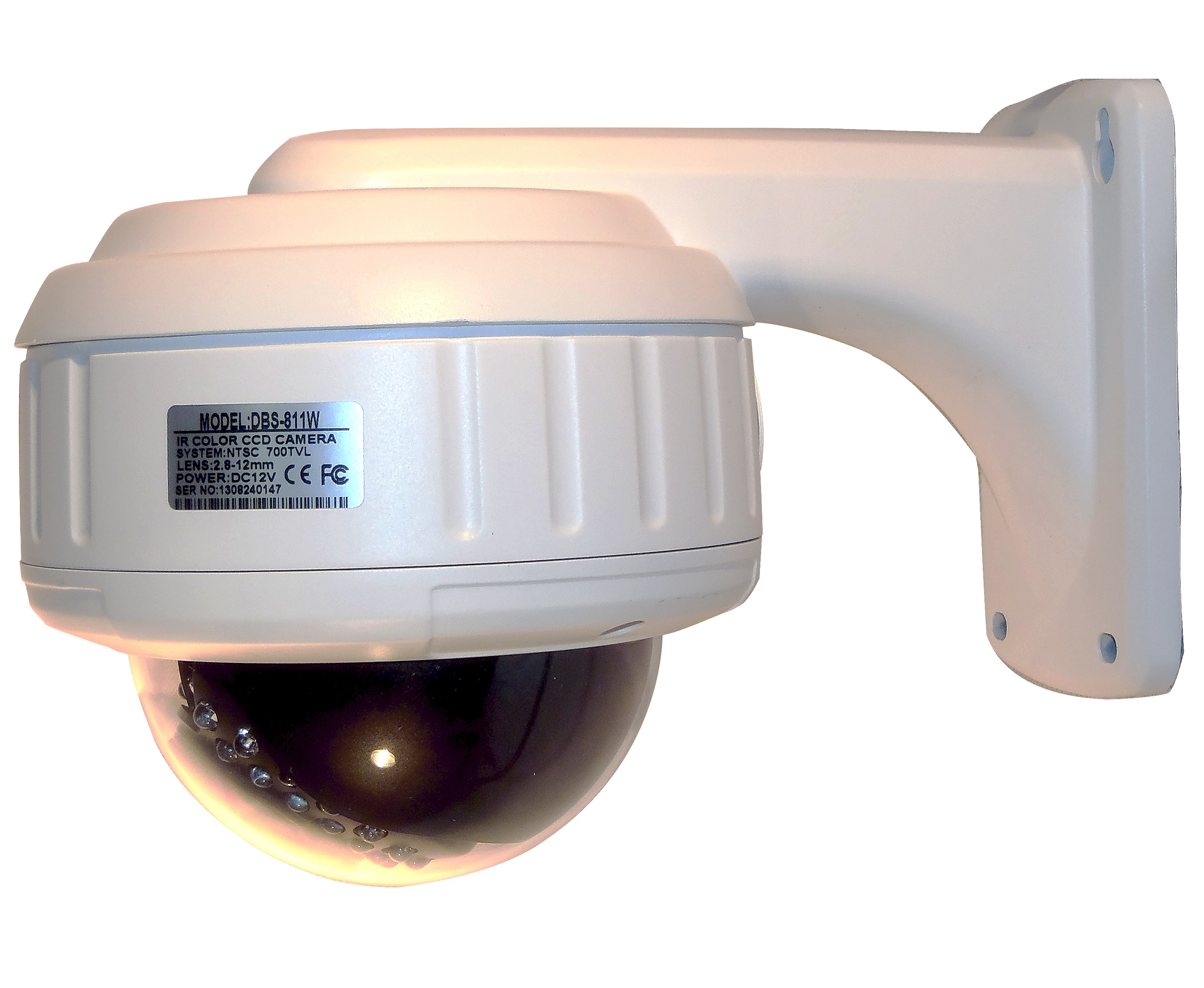 Image for DBS 811W - 700TVL CCTV Dome Security Camera - 1/3'' Sony Super HAD CCD II