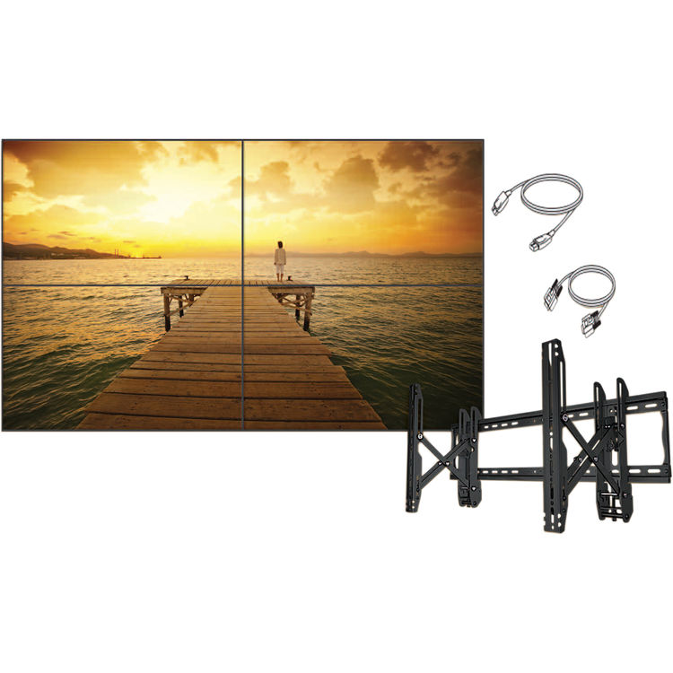 "LG Electronics 49VL5BW-4C - 49"" 2x2 Commercial LCD Video Wall Bundle- 1080p"