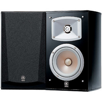 "Yamaha NS-333 5"""" Bookshelf Speaker - Mountable - Pair - Black"