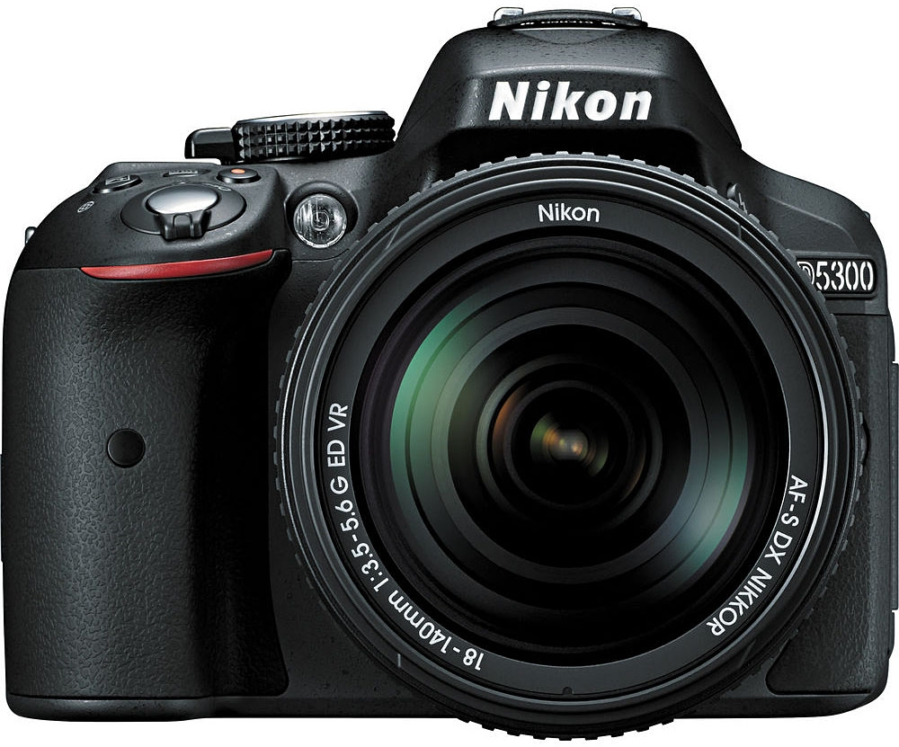 Nikon D5300 Digital SLR Camera With 18-140mm VR Lens (Black)