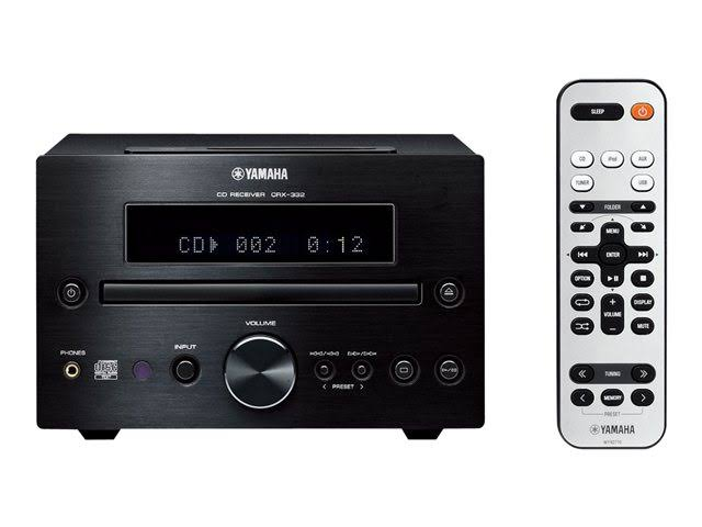 Yamaha CRX-332 CD receiver with iPhone / iPod cradle - Black