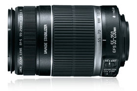 Image for Canon EF-S 55-250mm f4-5.6 IS Telephoto Zoom Lens