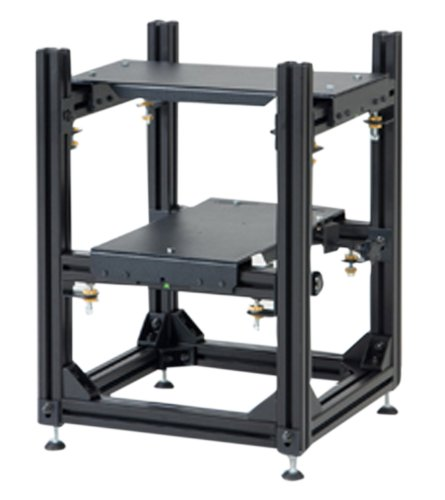 "Da-Lite 3D Projector Stacker Stacker for (2) Projectors - includes 10"" x 19"" projector bases, adjustable projector cradles and adjustable feet."