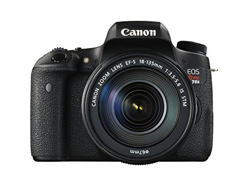 Canon EOS Rebel T6s 24.2MP DSLR with 18-135mm Lens Kit - Wi-Fi Enabled