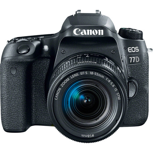 Canon EOS 77D 24.2MP DSLR Camera with 18-55 Lens Kit