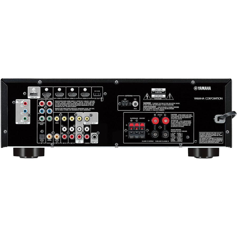 Yamaha rx v377bl 5 1 channel av home theater receiver for Yamaha home theater amplifier