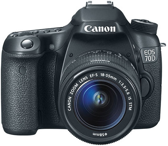 Canon EOS 70D Digital SLR Camera With EF-S 18-55mm IS Lens
