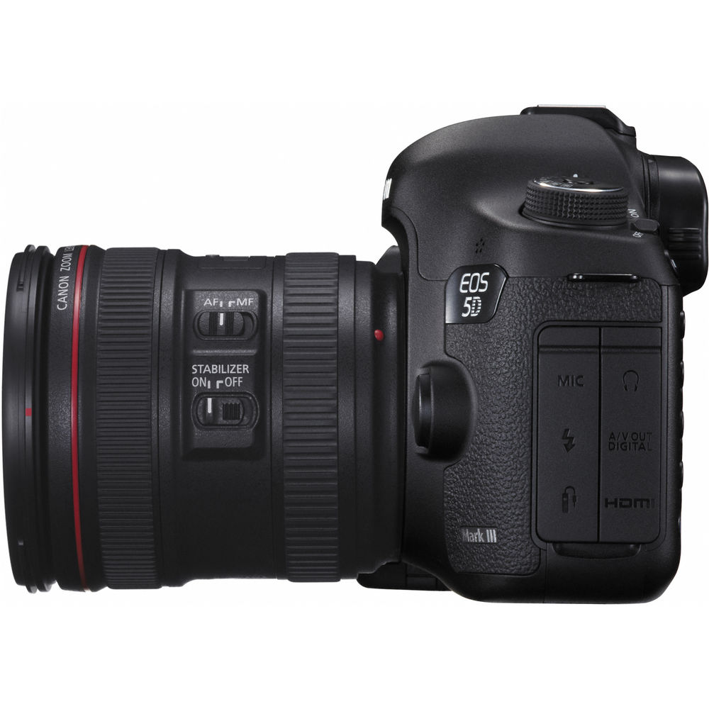 canon eos 5d mark iii dslr camera with ef 24 70mm f 4l is. Black Bedroom Furniture Sets. Home Design Ideas