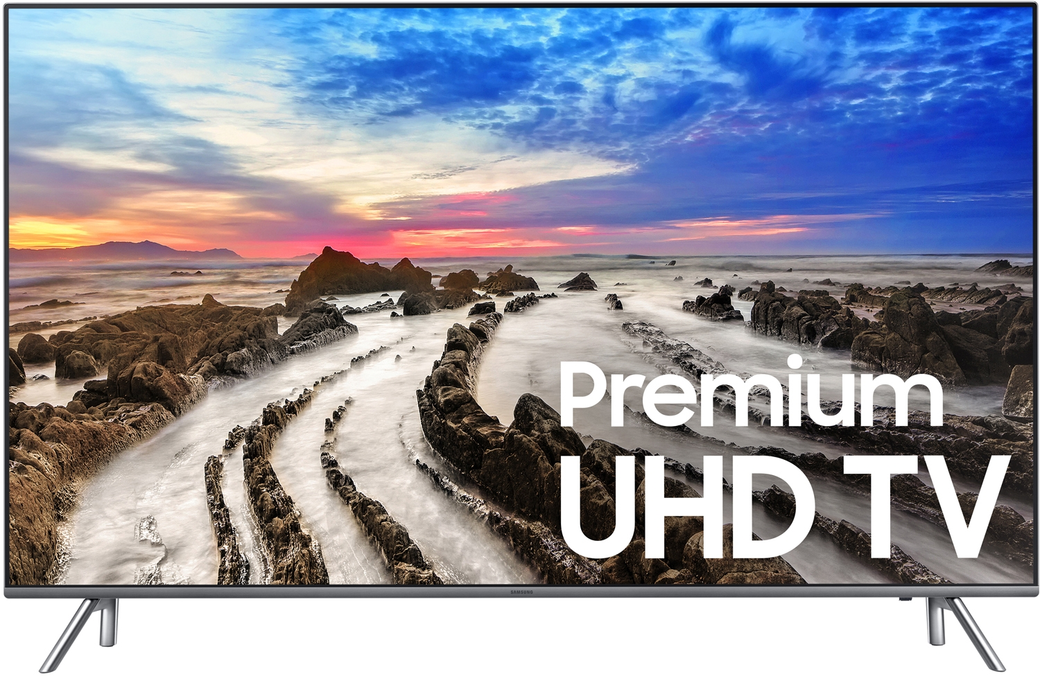 "Samsung UN75MU8000 75"" Black UHD 4K HDR LED Smart HDTV"