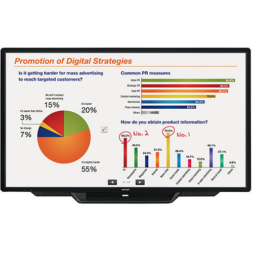 "Sharp PN-L803CA - 80"" LED 1080p Display w/ Touchscreen"