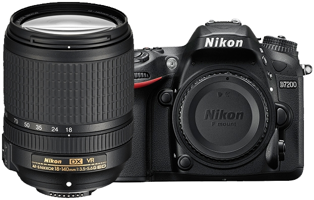 Nikon D7200 24.2MP Digital SLR Camera With 18-140mm VR Lens