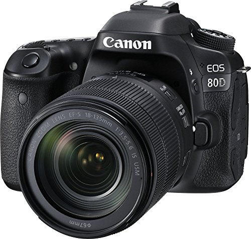 Canon EOS 80D 24.2MP DSLR with 18-135mm Lens Kit