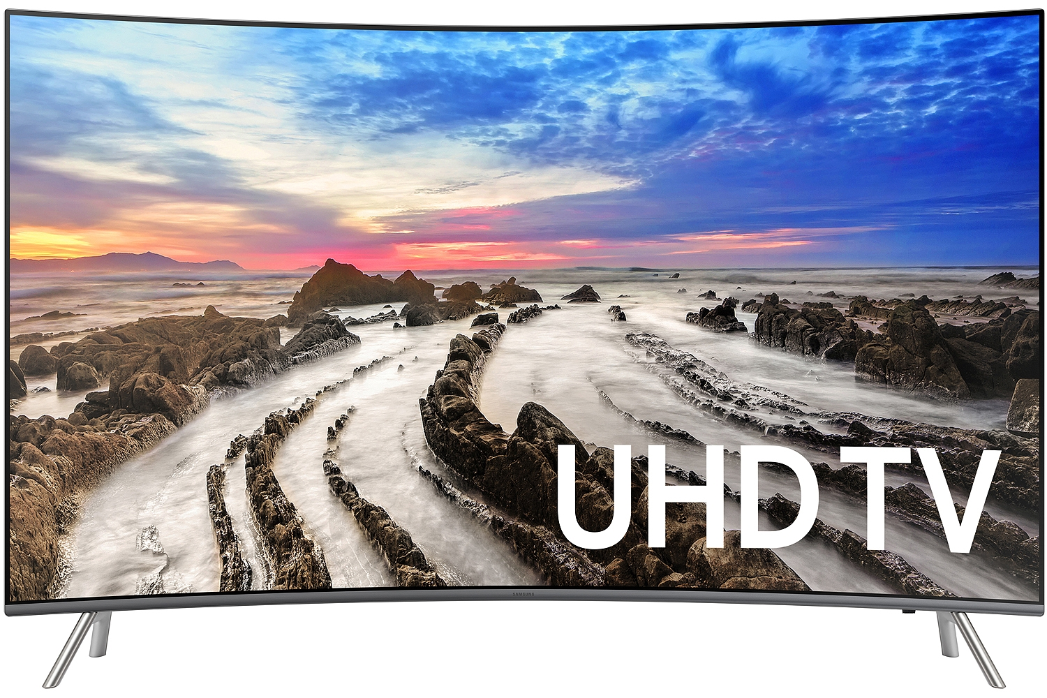 "Samsung UN55MU8500 55"" Black UHD 4K HDR Curved LED Smart HDTV"