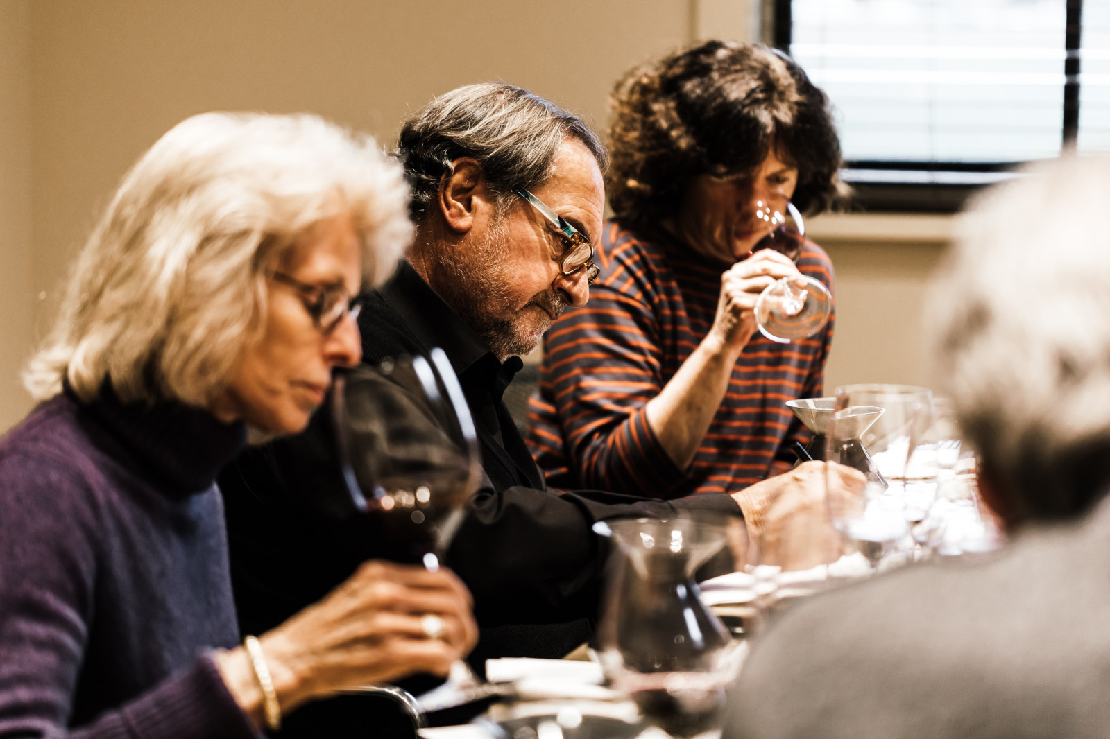 Daphne, Michel and Francoise at one of three annual blending sessions with the Accendo team.