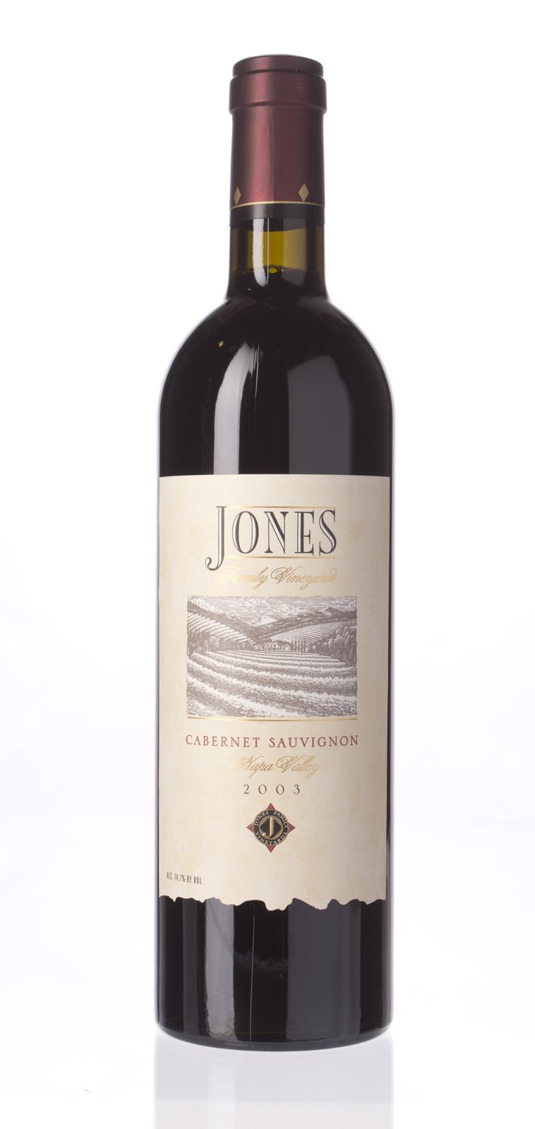 Jones Family Vineyard Cabernet Sauvignon Napa Valley 2003, 750ml (WA90) from The BPW - Merchants of rare and fine wines.