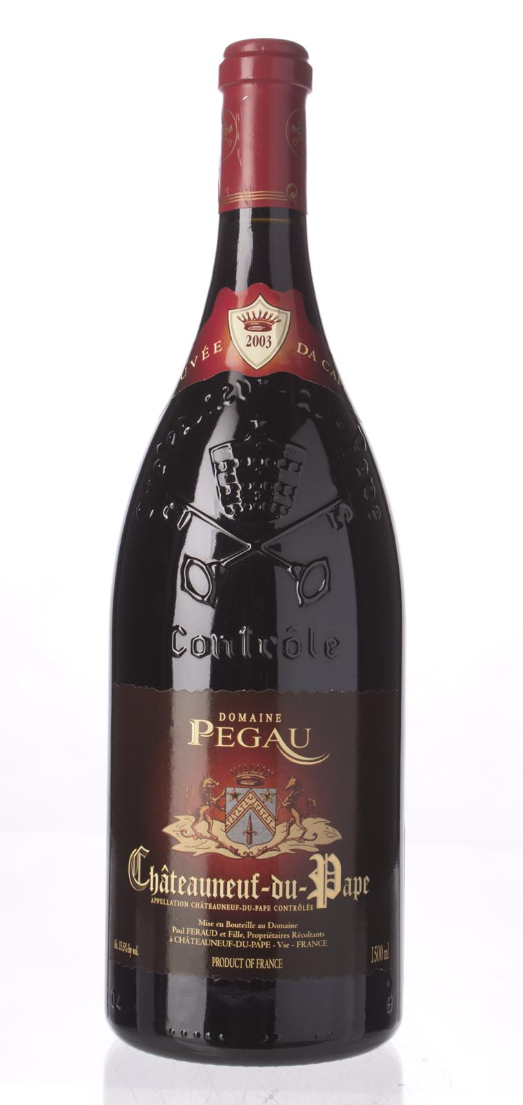 Domaine du Pegau Chateauneuf du Pape Cuvee da Capo 2003, 1.5L (WA100, WS99) from The BPW - Merchants of rare and fine wines.