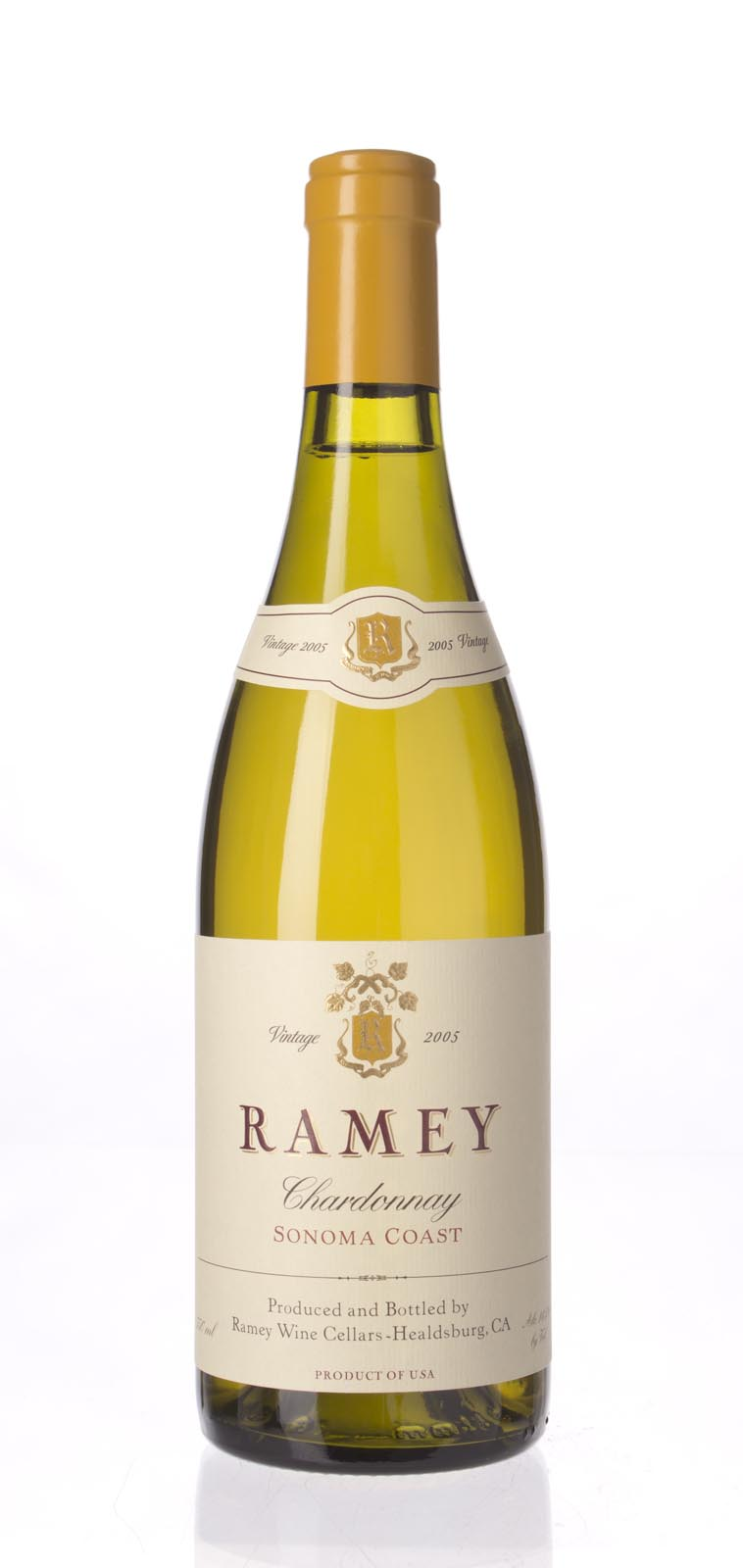 Ramey Chardonnay Sonoma Coast 2005, 750mL (WA91, ST90) from The BPW - Merchants of rare and fine wines.