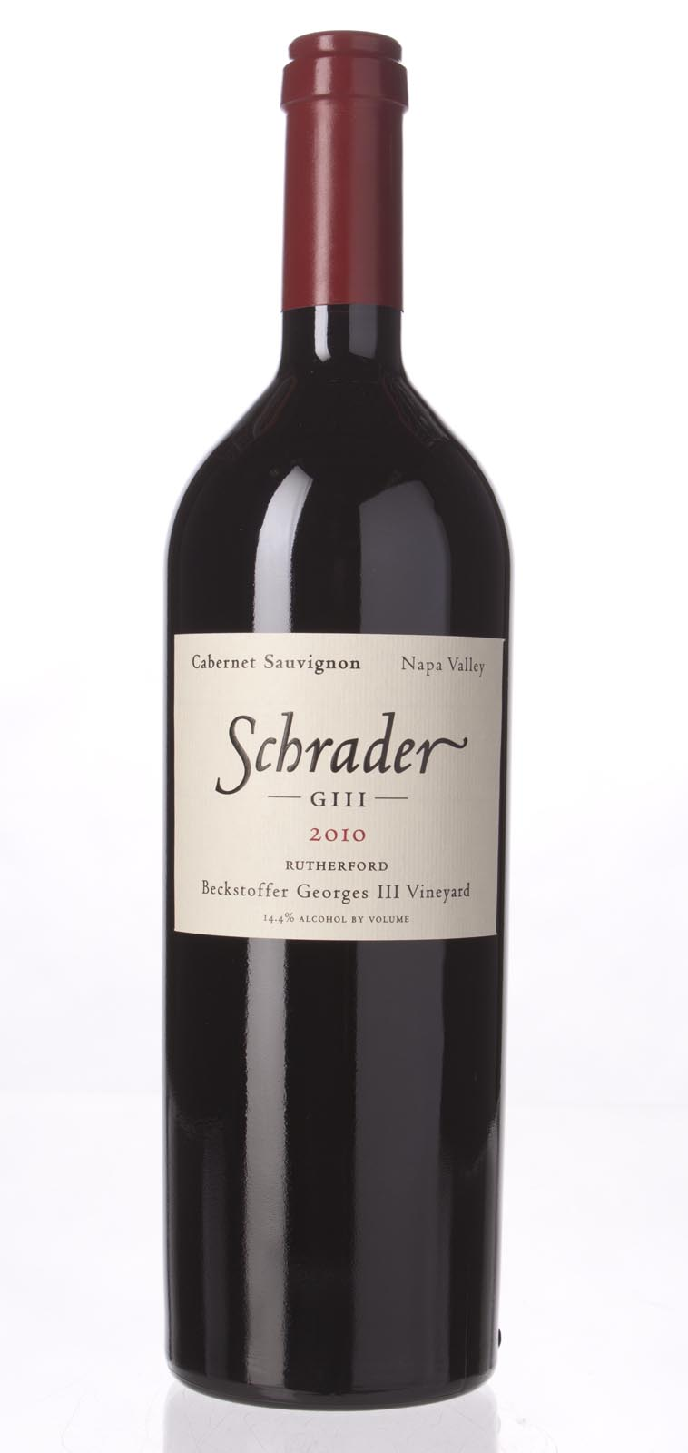 Schrader Cellars Cabernet Sauvignon Beckstoffer George III Vineyard 2010, 750mL (WA94-97) from The BPW - Merchants of rare and fine wines.